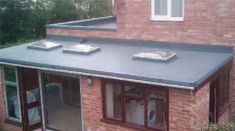 Flat roofing on house extension